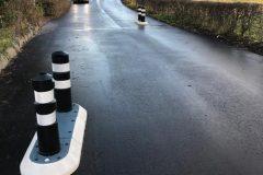 Helleblok - vejindsnævring