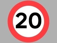 Vejskilte - 20 km/t