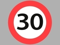 Vejskilte - 30 km/t