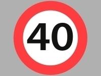 Vejskilte - 40 km/t