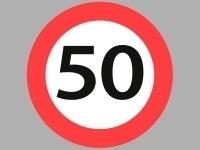 Vejskilte -50 km/t