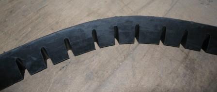 TDJ Kantblok gummi - fleksibel bagside
