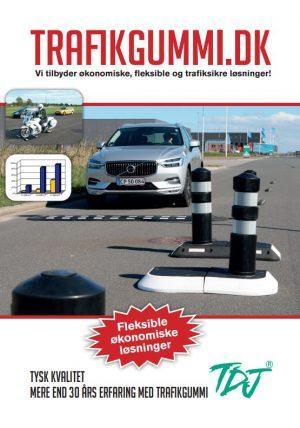 TDJ trafikgummi.dk - forsiden af brochure