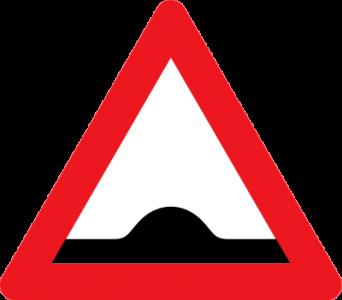 Skilt advarsel vejbump over 50 km/t
